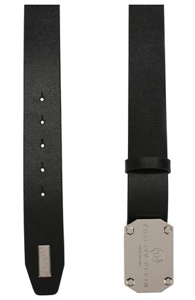 Мужской кожаный ремень PHILIPP PLEIN черного цвета, арт. P19A MVA0412 PLE004N | Фото 2