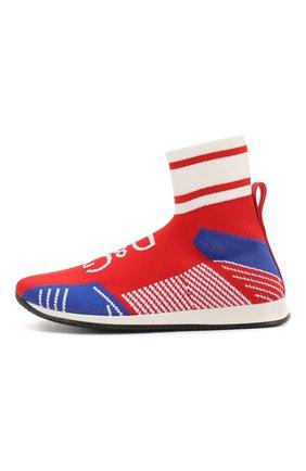 Детские текстильные кроссовки DOLCE & GABBANA красного цвета, арт. DA0721/AK470/24-28 | Фото 2