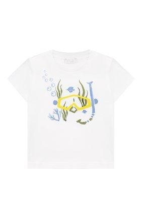 Детский комплект из хлопковой футболки и шорт IL GUFO голубого цвета, арт. P19DP286M0014/12M-18M | Фото 2