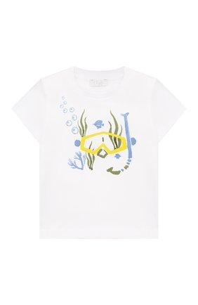 Детский комплект из хлопковой футболки и шорт IL GUFO голубого цвета, арт. P19DP286M0014/3M-9M | Фото 2