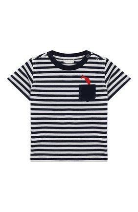 Детский комплект из футболки и шорт IL GUFO синего цвета, арт. P19DP289M1067/3M-9M | Фото 2