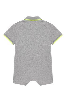 Детский хлопковый комбинезон IL GUFO серого цвета, арт. P19T0202M0055/3M-9M | Фото 2