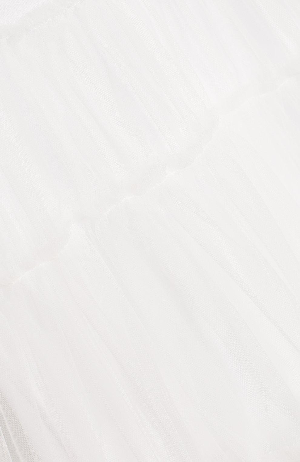 Женский хлопковое платье IL GUFO белого цвета, арт. P19VM483H0018/12M-18M | Фото 3