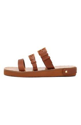 Кожаные сандалии Valentino Garavani Escape Valentino коричневые | Фото №3