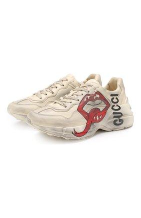 Кожаные кроссовки Rhyton  | Фото №1
