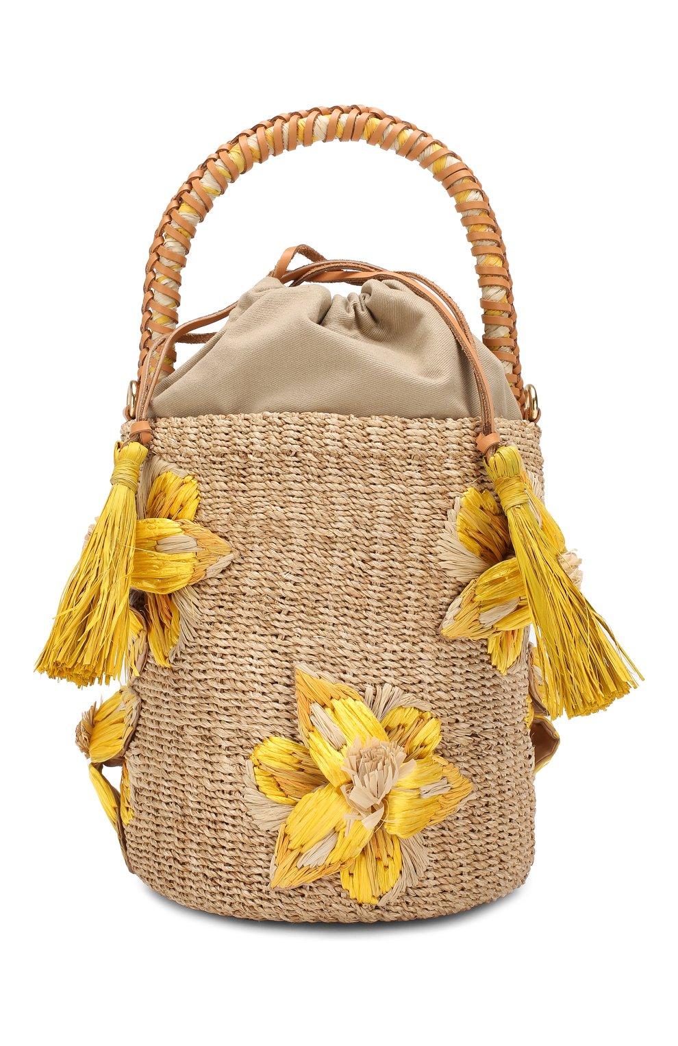 Женская сумка lulu ARANAZ желтого цвета, арт. LULU BUCKET | Фото 1