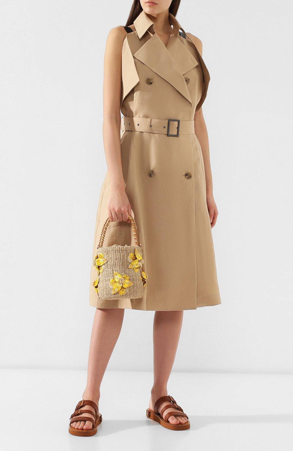 Женская сумка lulu ARANAZ желтого цвета, арт. LULU BUCKET | Фото 2
