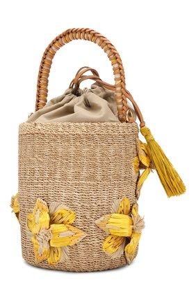 Женская сумка lulu ARANAZ желтого цвета, арт. LULU BUCKET | Фото 3