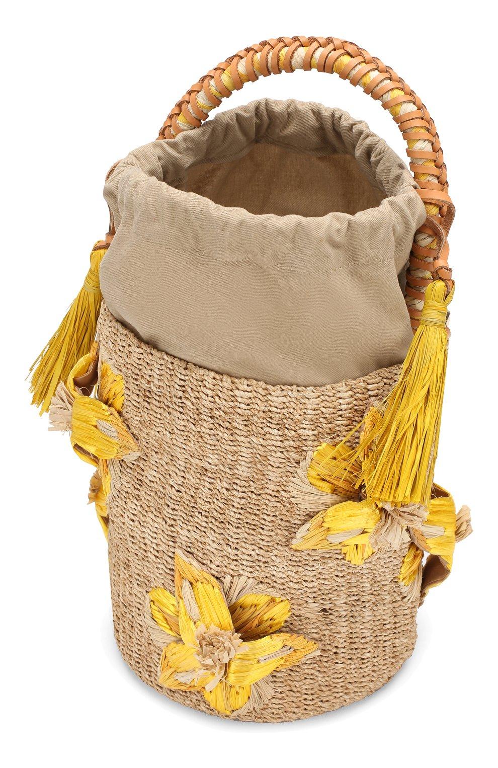 Женская сумка lulu ARANAZ желтого цвета, арт. LULU BUCKET | Фото 4
