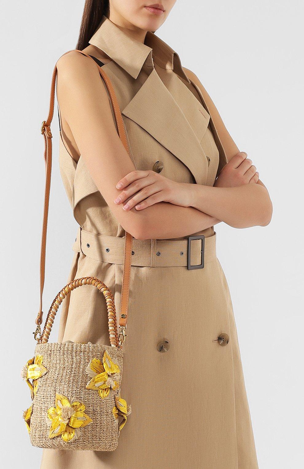 Женская сумка lulu ARANAZ желтого цвета, арт. LULU BUCKET | Фото 5