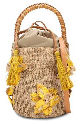 Женская сумка lulu ARANAZ желтого цвета, арт. LULU BUCKET | Фото 6