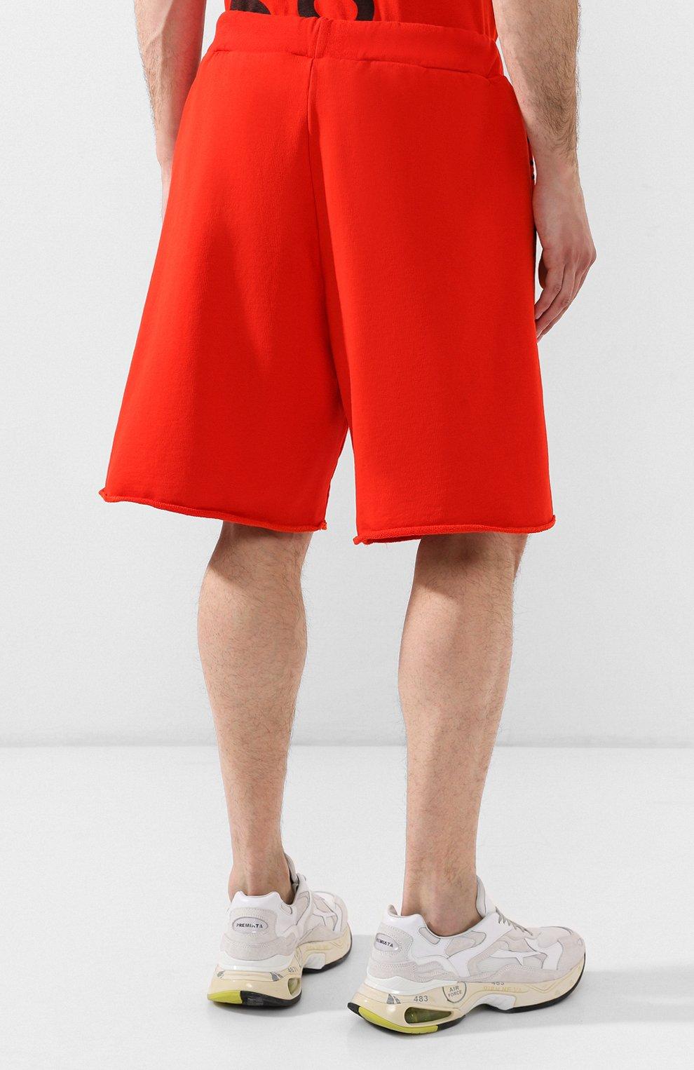 Хлопковые шорты Comme des Fuckdown красные | Фото №4