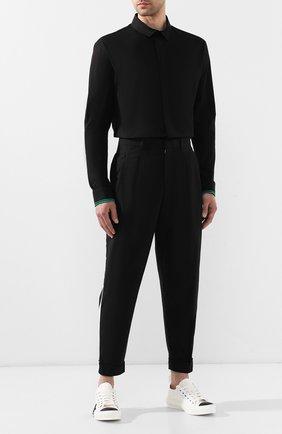 Мужской хлопковые брюки RALPH LAUREN черно-белого цвета, арт. 790738210 | Фото 2