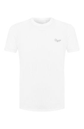 Мужская хлопковая футболка  ERMENEGILDO ZEGNA белого цвета, арт. N6M200680 | Фото 1 (Материал внешний: Хлопок; Статус проверки: Проверена категория, Проверено; Рукава: Короткие; Длина (для топов): Стандартные; Принт: Без принта; Стили: Кэжуэл)