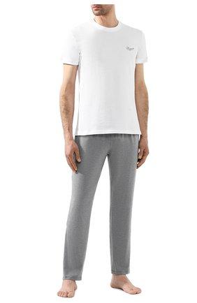 Мужская хлопковая футболка  ERMENEGILDO ZEGNA белого цвета, арт. N6M200680 | Фото 2