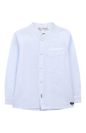 Рубашка из льна и хлопка   Фото №1
