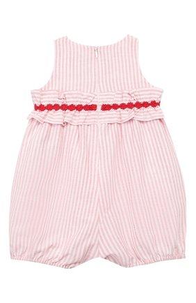 Детский хлопковый комбинезон TARTINE ET CHOCOLAT красного цвета, арт. TN33041 | Фото 2