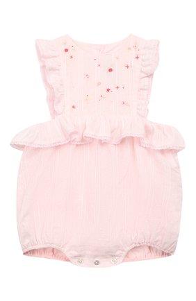 Детский хлопковый комбинезон TARTINE ET CHOCOLAT розового цвета, арт. TN33061   Фото 1