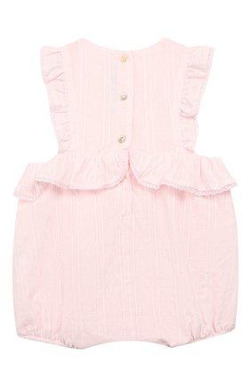 Детский хлопковый комбинезон TARTINE ET CHOCOLAT розового цвета, арт. TN33061   Фото 2