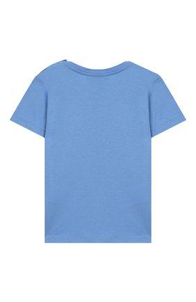 Детский хлопковая футболка GUCCI голубого цвета, арт. 548034/XJAIG | Фото 2