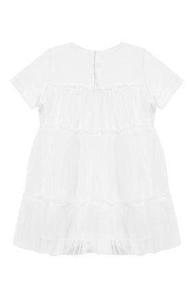 Женский хлопковое платье IL GUFO белого цвета, арт. P19VM483H0018/24M | Фото 2