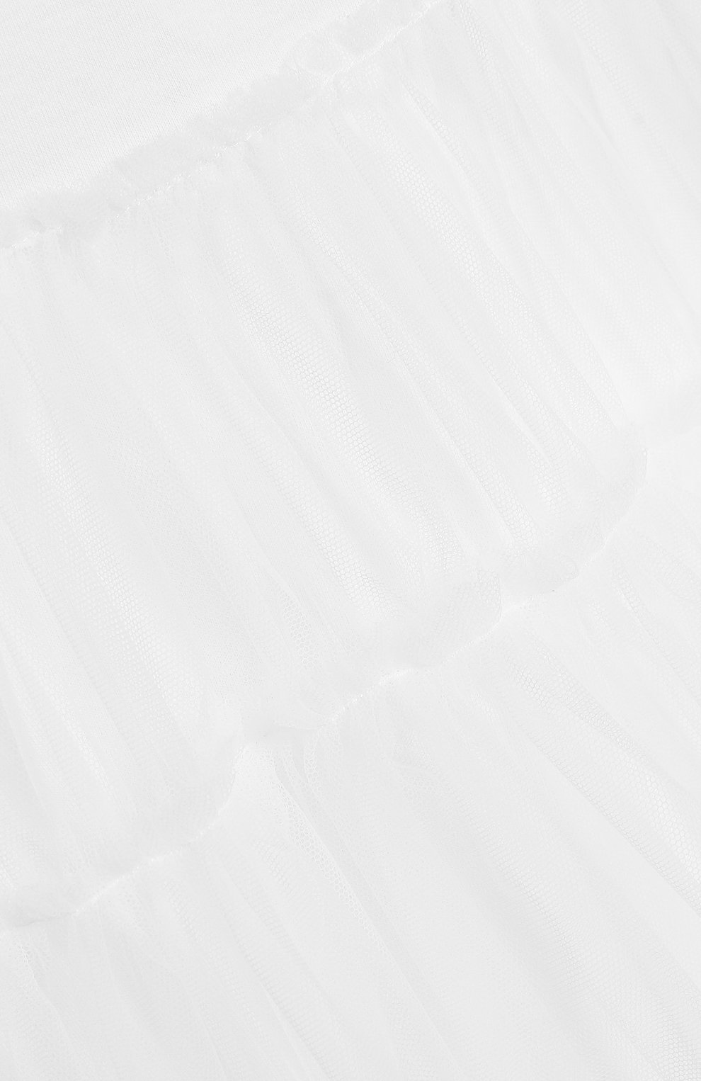 Женский хлопковое платье IL GUFO белого цвета, арт. P19VM483H0018/3M-9M | Фото 3