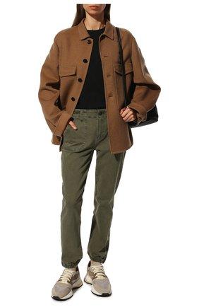 Женские джинсы PAIGE хаки цвета, арт. 5092B10-6338 | Фото 2