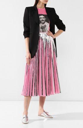 Женские кожаные сабо TOD'S серебряного цвета, арт. XXW79A0X970KAC | Фото 2