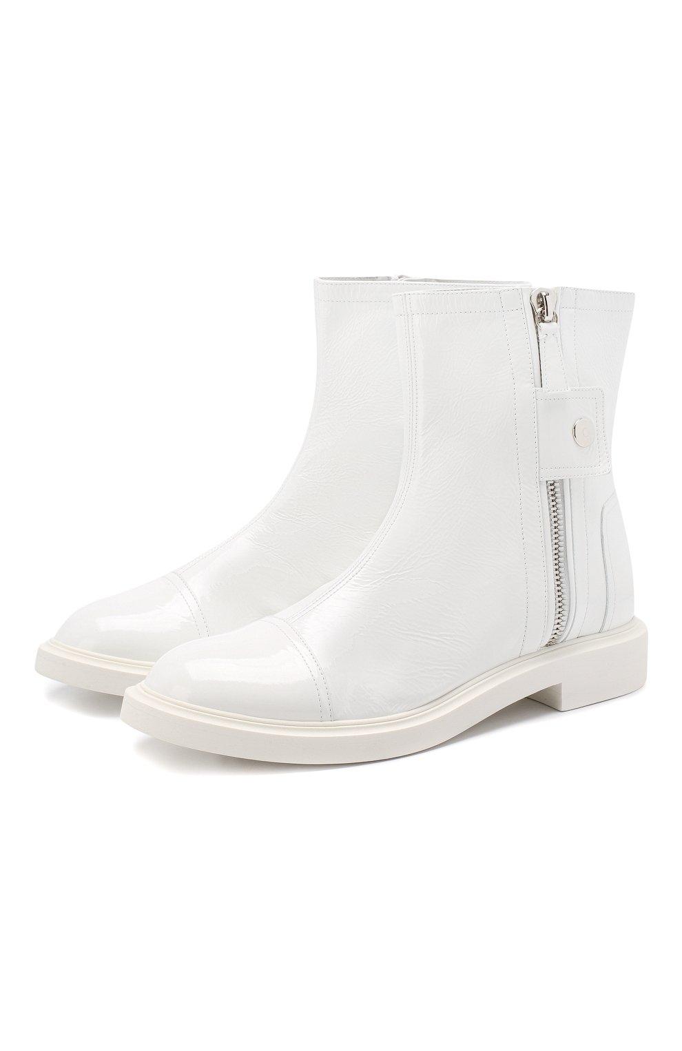 Женские кожаные ботинки selena CASADEI белого цвета, арт. 1R911M0201RAIN900 | Фото 1