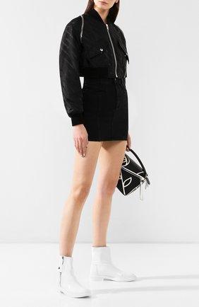 Женские кожаные ботинки selena CASADEI белого цвета, арт. 1R911M0201RAIN900 | Фото 2