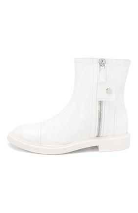 Женские кожаные ботинки selena CASADEI белого цвета, арт. 1R911M0201RAIN900 | Фото 3