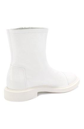 Женские кожаные ботинки selena CASADEI белого цвета, арт. 1R911M0201RAIN900 | Фото 4