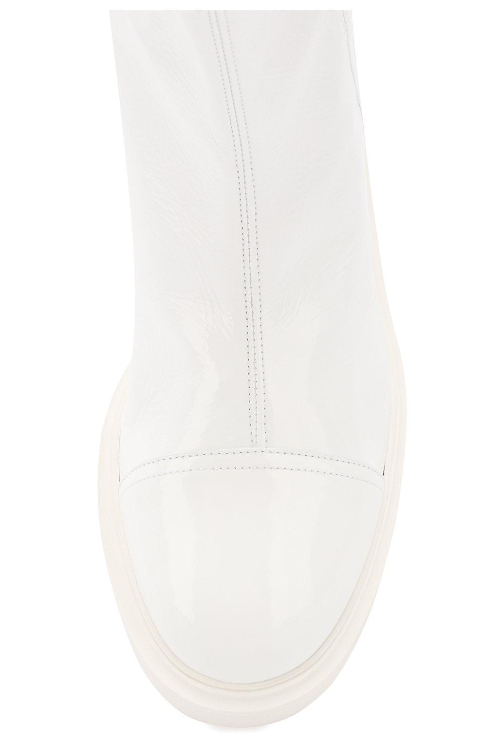 Женские кожаные ботинки selena CASADEI белого цвета, арт. 1R911M0201RAIN900 | Фото 5
