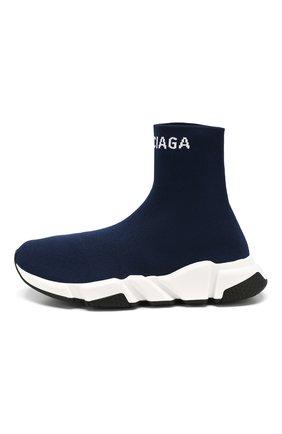 Текстильные кроссовки Speed Balenciaga синие | Фото №3