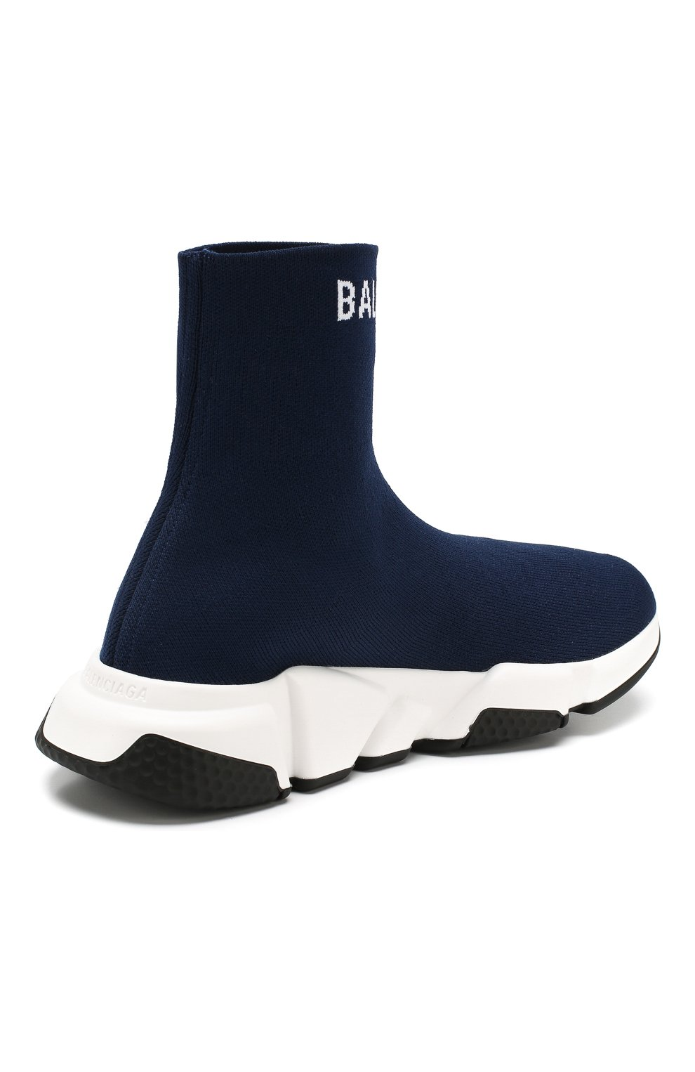 Текстильные кроссовки Speed Balenciaga синие | Фото №4