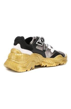 Кожаные кроссовки Billy No. 21 серебряные | Фото №4