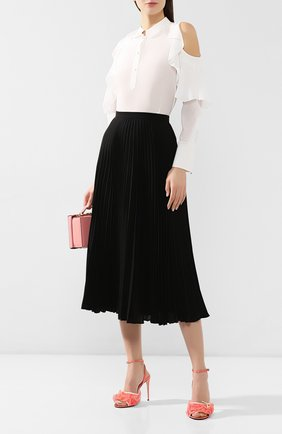 Текстильные босоножки Gucci розовые | Фото №2