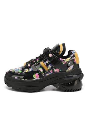 Кожаные кроссовки Retro Fit Maison Margiela черные | Фото №3
