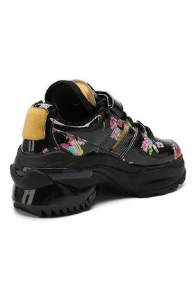Кожаные кроссовки Retro Fit Maison Margiela черные | Фото №4