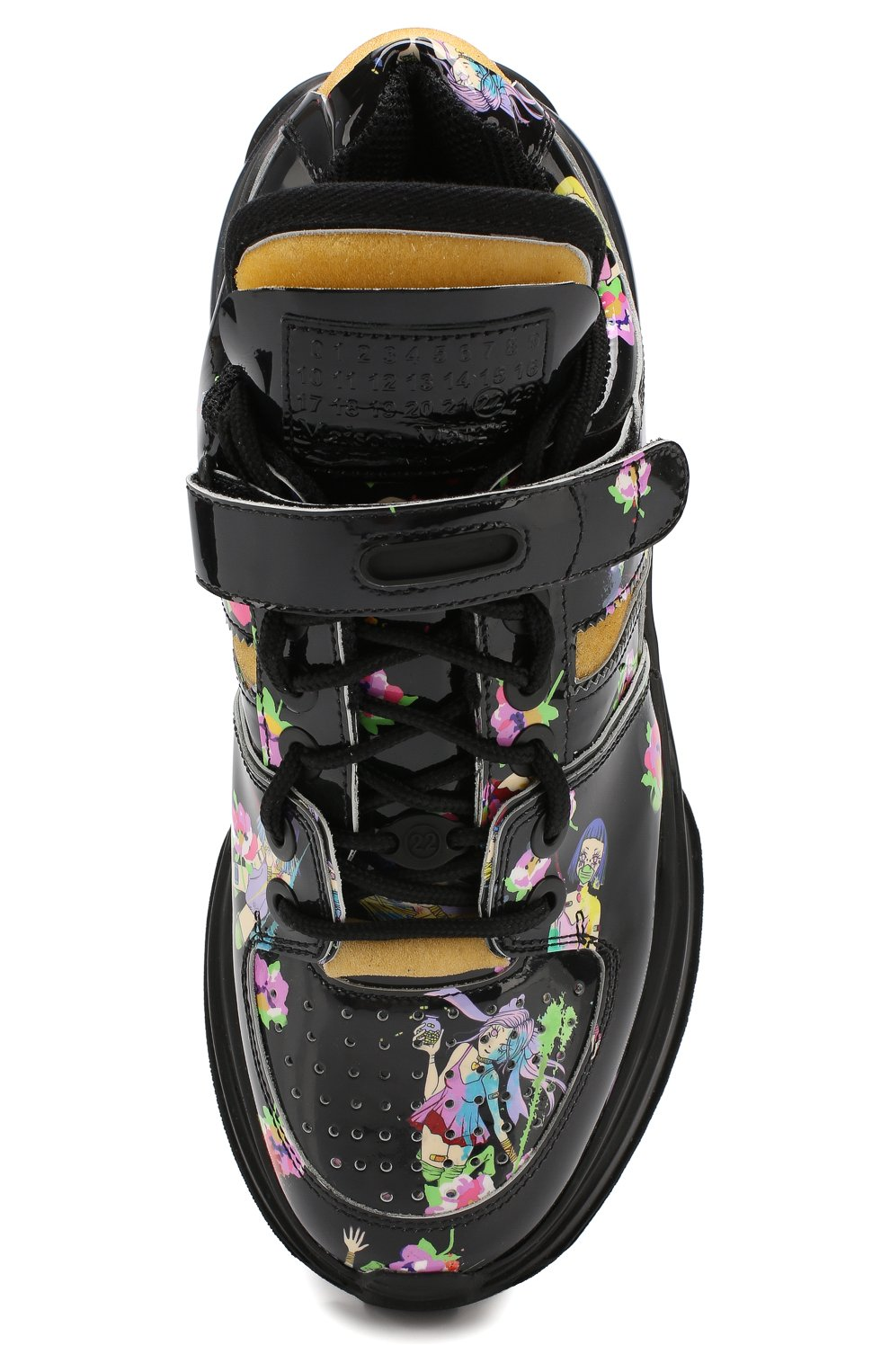 Кожаные кроссовки Retro Fit Maison Margiela черные | Фото №5