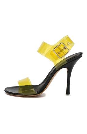 Босоножки Dries Van Noten желтые   Фото №3