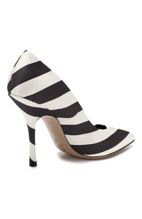 Текстильные туфли Dries Van Noten черно-белые | Фото №4