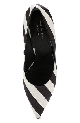 Текстильные туфли Dries Van Noten черно-белые | Фото №5