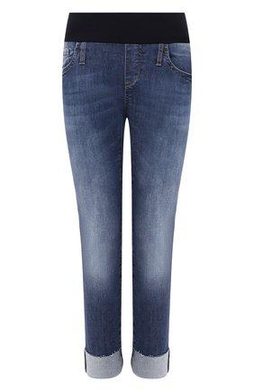 Женские джинсы с эластичным поясом PIETRO BRUNELLI темно-синего цвета, арт. JP0044/TU/DE0001 | Фото 1