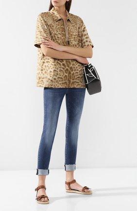 Женские джинсы с эластичным поясом PIETRO BRUNELLI темно-синего цвета, арт. JP0044/TU/DE0001 | Фото 2