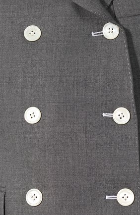 Шерстяной жакет Thom Browne серый | Фото №5