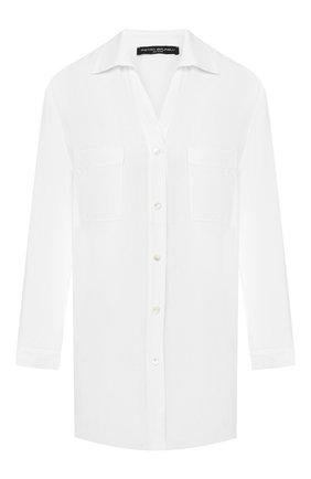 Женская рубашка из вискозы PIETRO BRUNELLI белого цвета, арт. CA0174/VI2905 | Фото 1