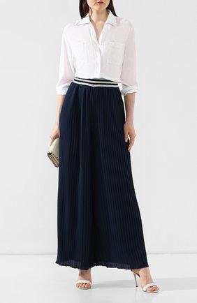 Женская рубашка из вискозы PIETRO BRUNELLI белого цвета, арт. CA0174/VI2905 | Фото 2