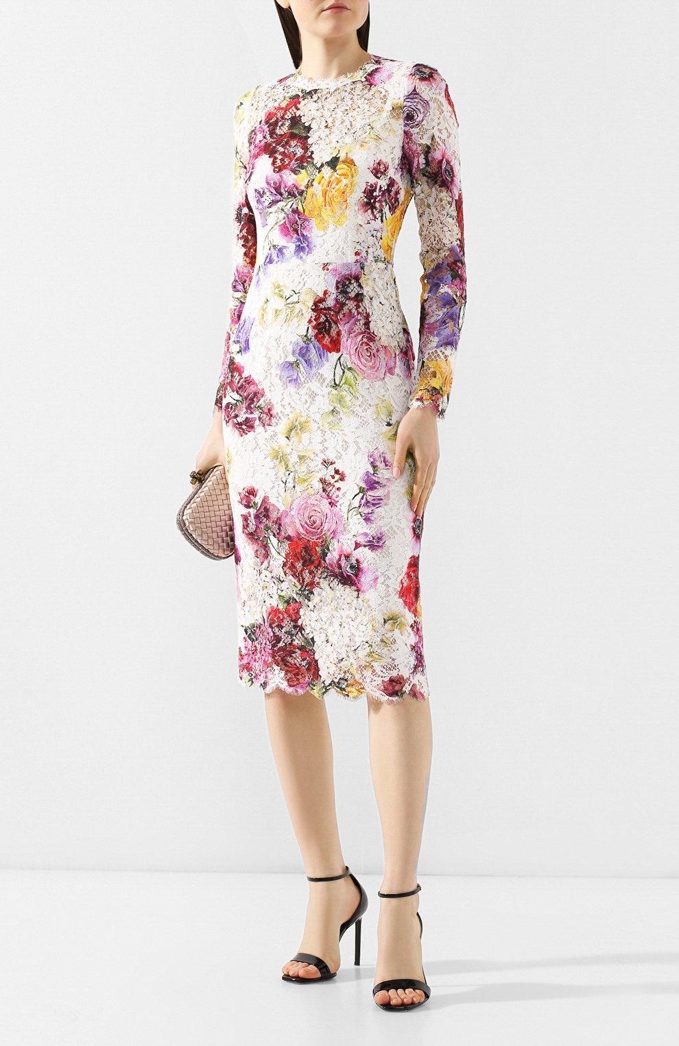 Кружевное платье Dolce & Gabbana разноцветное   Фото №2