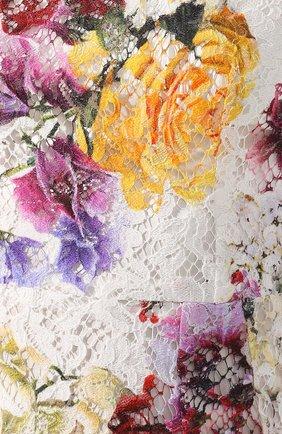 Кружевное платье Dolce & Gabbana разноцветное   Фото №5